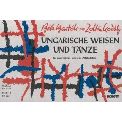 Bartók, Béla: Ungarische Weisen und Tänze Band 1 : 3 Blockflöten (SSA) Spielpartitur