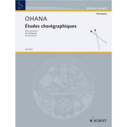 Ohana, Maurice: ETUDES CHOREGRAPHIQUES F.SCHLAGZEUG (4 SPIELER) SPIELPARTITUR