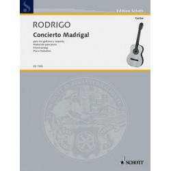 Rodrigo, Joaquin: Concierto madrigal para dos guitarras y orquesta für 2 Gitarren und Klavier