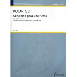 Rodrigo, Joaquin: Concierto para una fiesta para guitarra y orquesta für Gitarre und Klavier