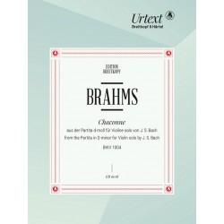 Bach, Johann Sebastian: Chaconne aus der Partita Nr.2 d-Moll BWV1004 für Violine : für Klavier linke Hand allein