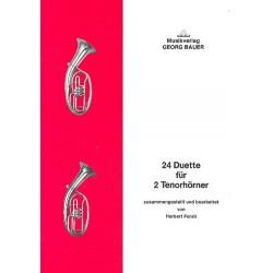 24 Duette : f├╝r 2 Tenorhoerner Spielpartitur