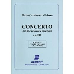 Castelnuovo-Tedesco, Mario: Concerto op.201 für 2 Gitarren und Orchester für 2 Gitarren und Klavier
