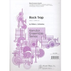 Schinstine, William J.: Rock Trap for a quartet or any group of musicians in multiples of four Partitur und 8 Stimmen