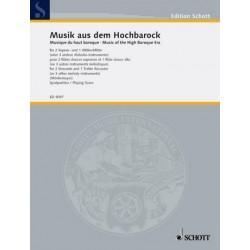 Musik aus dem Hochbarock : für 3 Blockflöten (SSA/SAT) oder andere Melodieinstrumente, Spielpartitur
