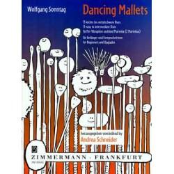 Sonntag, Wolfgang: Dancing Mallets : 13 leichte bis mittelschwere Duos f├╝r Vibraphon und Marimba (2 Marimbas)