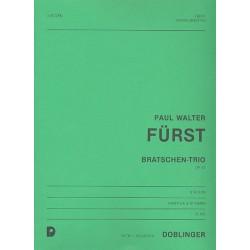F├╝rst, Paul Walter: Bratschen-Trio op.67 : f├╝r 3 Violen Partitur und Stimmen