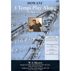Mozart, Wolfgang Amadeus: Rondo D-Dur KV164 (+CD) : f├╝r Fl├Âte und Orchester