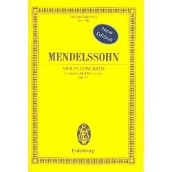 Mendelssohn-Bartholdy, Felix: Konzert e-Moll op.64 für Violine und Orchester Studienpartitur