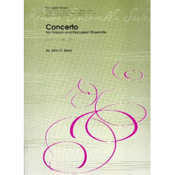 Beck, John Ness: Concerto : for timpani and percussion ensemble (5 players) score and parts