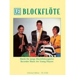 Musik für junge Blockflötenspieler : für Blockflöte mit und ohne Begleitung