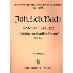 Bach, Johann Sebastian: Weichet nur betr├╝bte Schatten : Kantate Nr.202 BWV202 Violine 2
