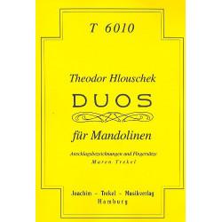 Hlouschek, Theodor: Duos : f├╝r 2 Mandolinen Spielpartitur
