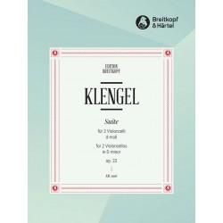 Klengel, Julius (Sohn) *1859: Suite d-Moll op.22 : für 2 Violoncelli Spielpartitur