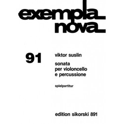 Suslin, Viktor Evseevich: Sonate : per violoncello e percussione Spielpartitur