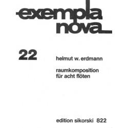 Erdmann, Helmut W.: Raumkomposition für 8 Flöten Partitur und 4 Doppelstimmen