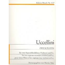 Uccellini, Marco: 2 Sonaten : für 2 Sopranblockflöten (Violinen) und Bc