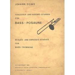Doms, Johann: Tonleiter- und Akkordstudien : für Baßposaune