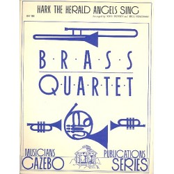 Hark the Herald Angels sing : for brass quartet score+parts