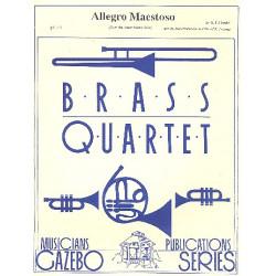Händel, Georg Friedrich: Allegro Maestoso from the Water Music Suite : for brass quartet (1-2-1-0) score and parts
