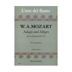 Mozart, Wolfgang Amadeus: Adagio und Allegro KV594 für ein Orgelwerk für 2 Flöten Spielpartitur