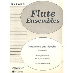 Corelli, Arcangelo: Sarabanda and Gavotta : for 4 flutes score and parts