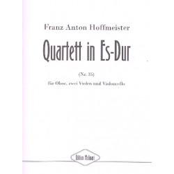 Hoffmeister, Franz Anton: Quartett Es-Dur Nr.35 : für Oboe, 2 Violen und Violoncello Partitur und Stimmen