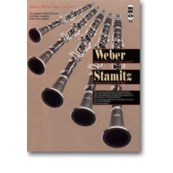 Music minus one clarinet : Clarinet concertos no.1 (Weber) and no.3 (Stamitz)