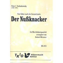 Tschaikowsky, Peter Iljitsch: 4 Sätze nach der Nußknacker-Suite : für 2 Trompeten und 2 Posaunen Partitur und Stimmen
