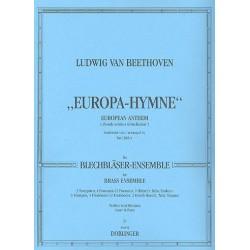 Beethoven, Ludwig van: Europa-Hymne : für Blechbläser- ensemble Partitur und Stimmen (0-3-4-1, pk)