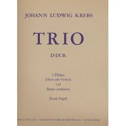 Krebs, Johann Ludwig: Trio D-Dur : für 2 Flöten (Oboen, Violinen) und Bc