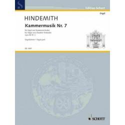 Hindemith, Paul: Kammermusik Nr.7 op.46,2 : für Orgel und Kammerorchester Orgelstimme