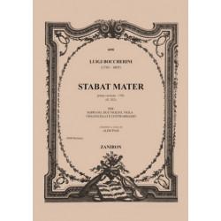 Boccherini, Luigi: Stabat mater prima versione G532 : für Sopran und Streicher Partitur