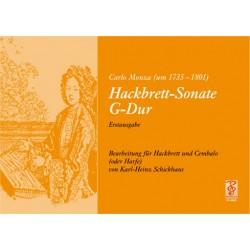Monza, Carlo: Sonate G-Dur für Hackbrett und Cembalo (Harfe)