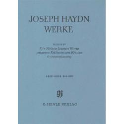 Haydn, Franz Joseph: Die sieben letzten Worte unseres Erlösers am Kreuze kritischer Bericht der Orchesterfassung