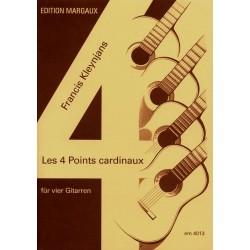 Kleynjans, Francis: Les 4 points cardinaux op.139 für 4 Gitarren Partitur und Stimmen