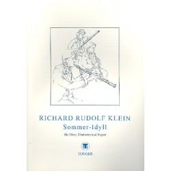 Klein, Richard Rudolf: Sommer-Idyll : für Klarinette, Oboe und Fagott Partitur und Stimmen