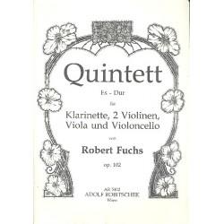Fuchs, Robert: Quintett Es-Dur op.102 : für Klarinette und Streichquartett Stimmen