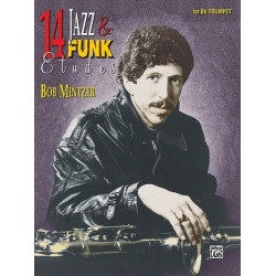 Mintzer, Bob: 14 Jazz and Funk Etudes (+CD) : for trumpet in Bb