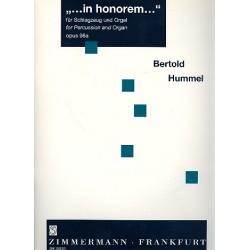 Hummel, Bertold: In honorem op.98a : f├╝r Schlagzeug und Orgel 2 Spielpartituren