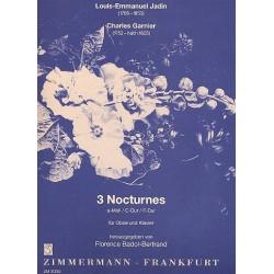 Jadin, Louis Emmanuel: 3 nocturnes von L.-E. Jadin und Charles Garnier : für Oboe und Klavier