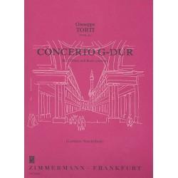 Torti, Giuseppe: Concerto G-Dur : f├╝r 3 Fl├Âten und Bc, Stimmen