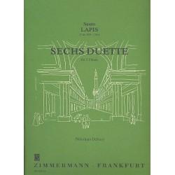 Lapis, Santo: 6 Duette : für 2 Flöten 2 Spielpartituren