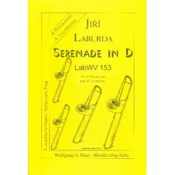 Laburda, Jiri: Serenade D-Dur LABWV153 : für 4 Posaunen Partitur und Stimmen
