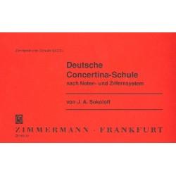 Sokoloff, J.A.: Deutsche Concertina-Schule nach Noten- und Ziffernsystem