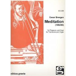 Bresgen, Cesar: Meditation : f├╝r Posaune und Orgel