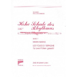 Marais, Marin: Les folies d'Espagne für 2 Flöten 2 Spielpartituren