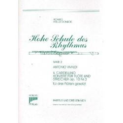 Vivaldi, Antonio: Concerto Il Cardellino op.10,3 : für 3 Flöten Partitur und Stimmen