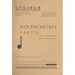 Pachelbel, Johann: Partie G-Dur : für 5 Streicher und Bc Partitur und Stimmen
