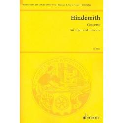 Hindemith, Paul: Konzert für Orgel und Orchester Studienpartitur